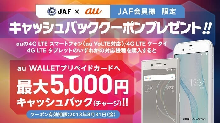 JAFとauとのコラボキャンペーン