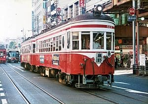 岐阜の路面電車の写真